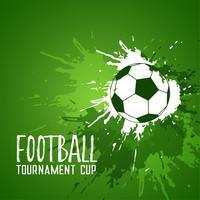 fotboll grunge grön bläck splatter bakgrund
