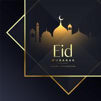 svart islamisk eid festival hälsning bakgrund