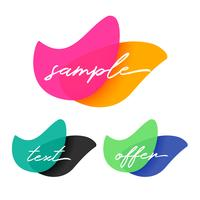 astratto banner vibrante con copyspace