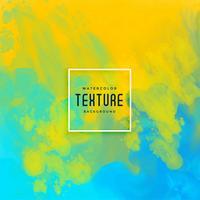 blauer und gelber heller Tintenfluss-Aquarell-Zusammenfassungshintergrund