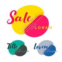 design de bandeira de venda colorido abstrato