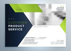 Presentación de plantilla de flyer folleto moderno verde creativo