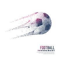 creative football made with particles