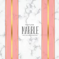 Marmorbeschaffenheitshintergrund mit rosafarbenen und Goldstreifen