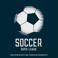 design de futebol criativo feito com meio-tom