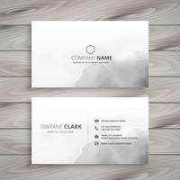 diseño de tarjeta de visita blanca limpia