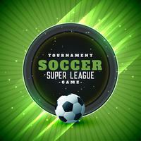 Fondo de liga de torneo de fútbol con espacio de texto