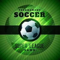 fond de championshio tournoi de football vert