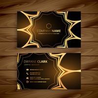 luxe visitekaartje in gouden stijl