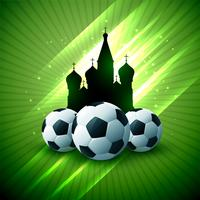 tournoi de football russie brillant flyer background