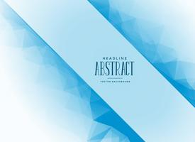 Fondo de triángulo abstracto azul con espacio de texto