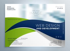 modern wavy business brochure presentation template