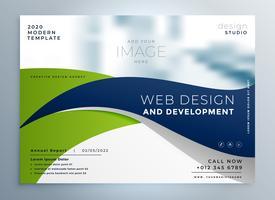Plantilla de presentación de folleto de negocio ondulado moderno