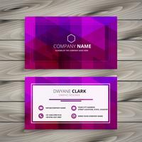 elegant purple business card design