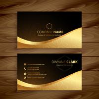 lyxigt gyllene premium visitkortdesign