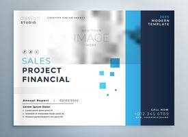 creative business blue brochure cover template