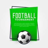 Bandera de fútbol verde con espacio de texto