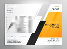 Plantilla de presentación de folleto de negocio amarillo creativo folleto