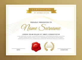 clean modern certificate vector design