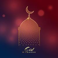 kreativ moskédesign för eid mubarak festival