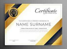 luxury golden premium certificate design