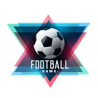 abstract football soccer background design