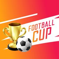 soccer football gagnant fond de coupe trophée