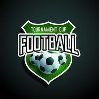 football tournament label design vector