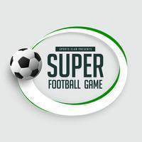 Fondo de juego de fútbol con espacio de texto