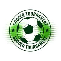 soccer tournament abstract label design