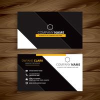 yellow dark modern business card design