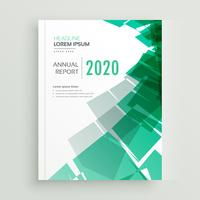 abstract green business book cover page or brochure template