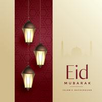 islamic eid festival design creativo