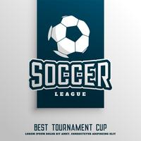 soccer football tournament league background