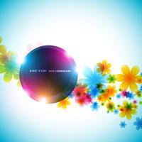 vector de flores