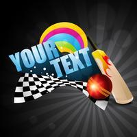 fond de thème de cricket