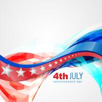 wave style independence day vector