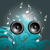 Fondo de altavoz de música