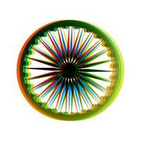 indiska flaggan hjulet