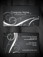 beautiful floral  design business card template