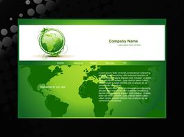 sitio web ecológico de vector