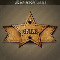 försäljning läder etikett design