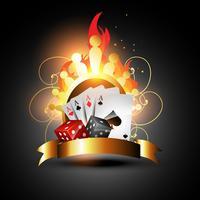 cartes à jouer et dés de vecteur