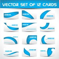 vector set visitekaartjes