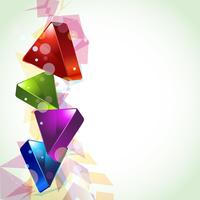 3d looking abstract design vector