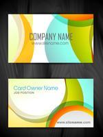 plantilla de tarjeta de visita creativa colorida vector