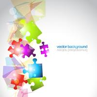 Fondo de vector de forma de rompecabezas abstracto