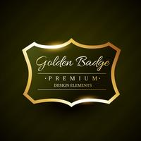 vector golden badge premium label design