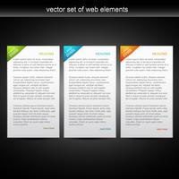 insieme vettoriale di banner web