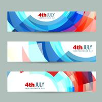 american independence day header vector